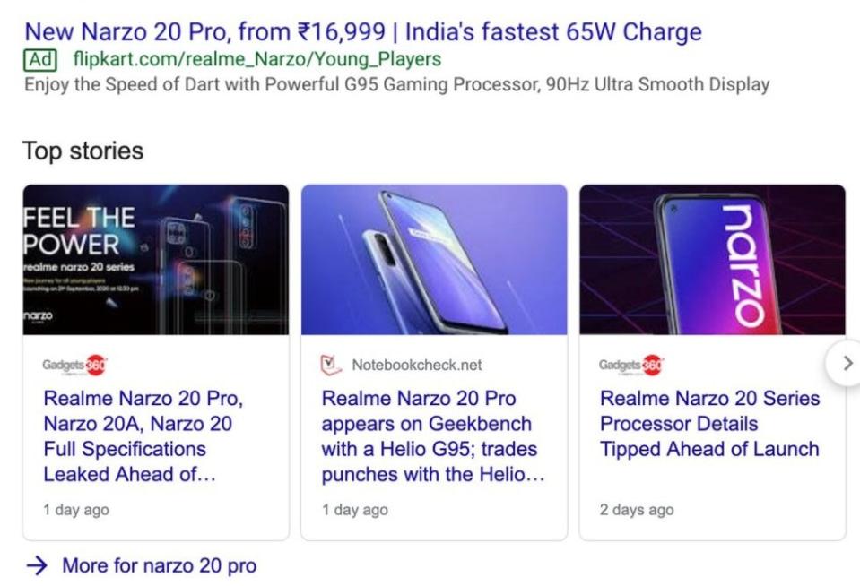 Realme Narzo 20 Pro - Flipkart