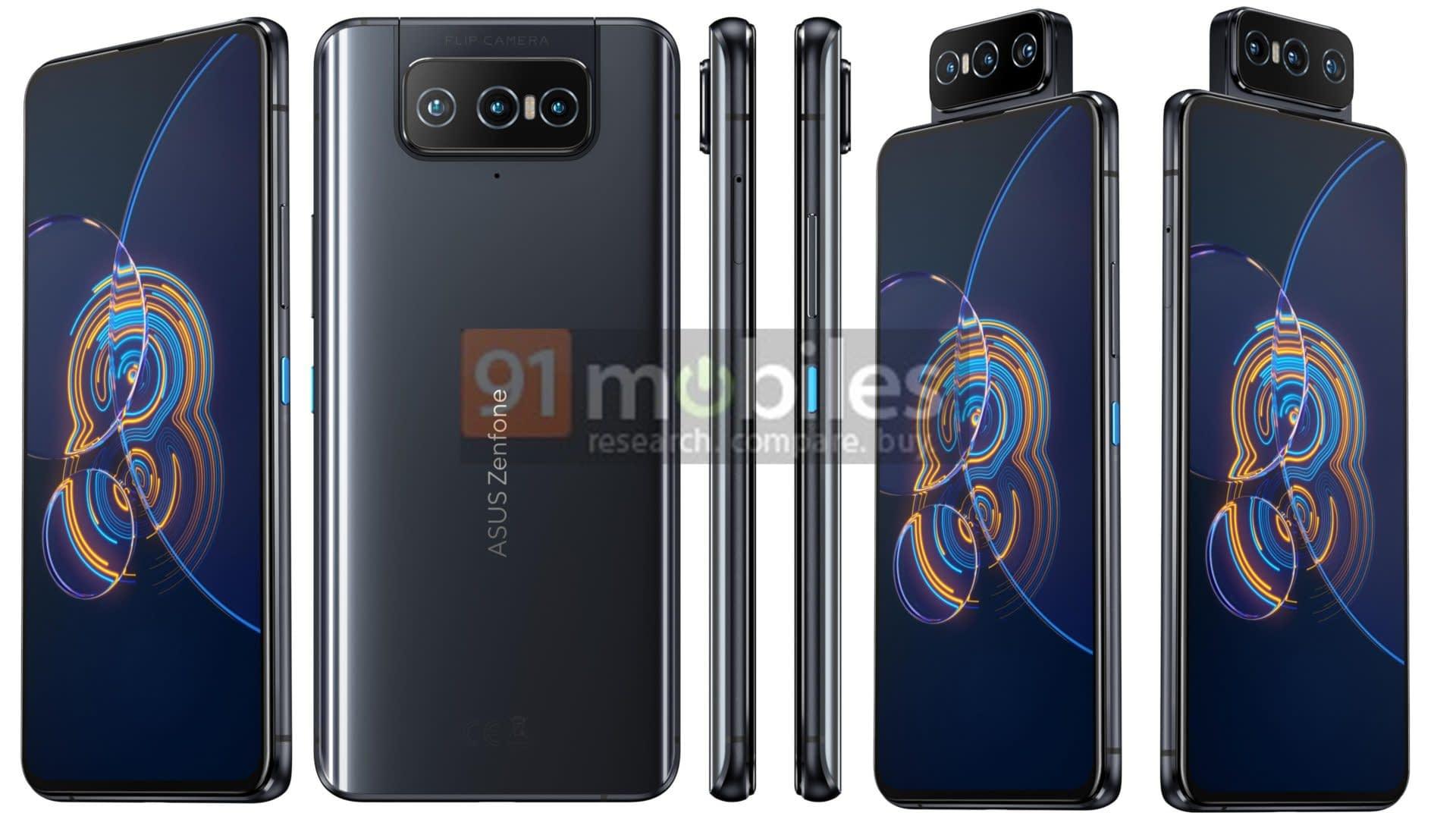 ASUS Zenfone 8 Flip leaked render in Black
