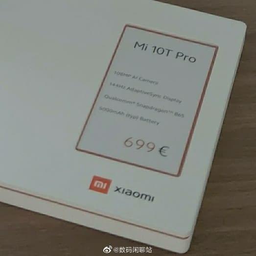 Xiaomi Mi 10T Pro - price