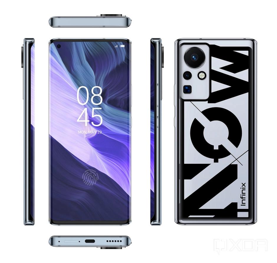 Inifix 160W fast charging phone leaked render