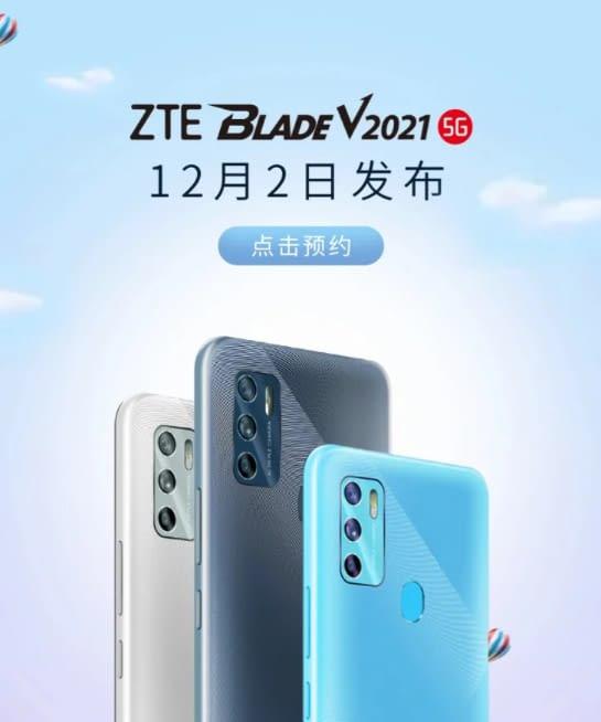 ZTE Blade V2021 5G launch poster