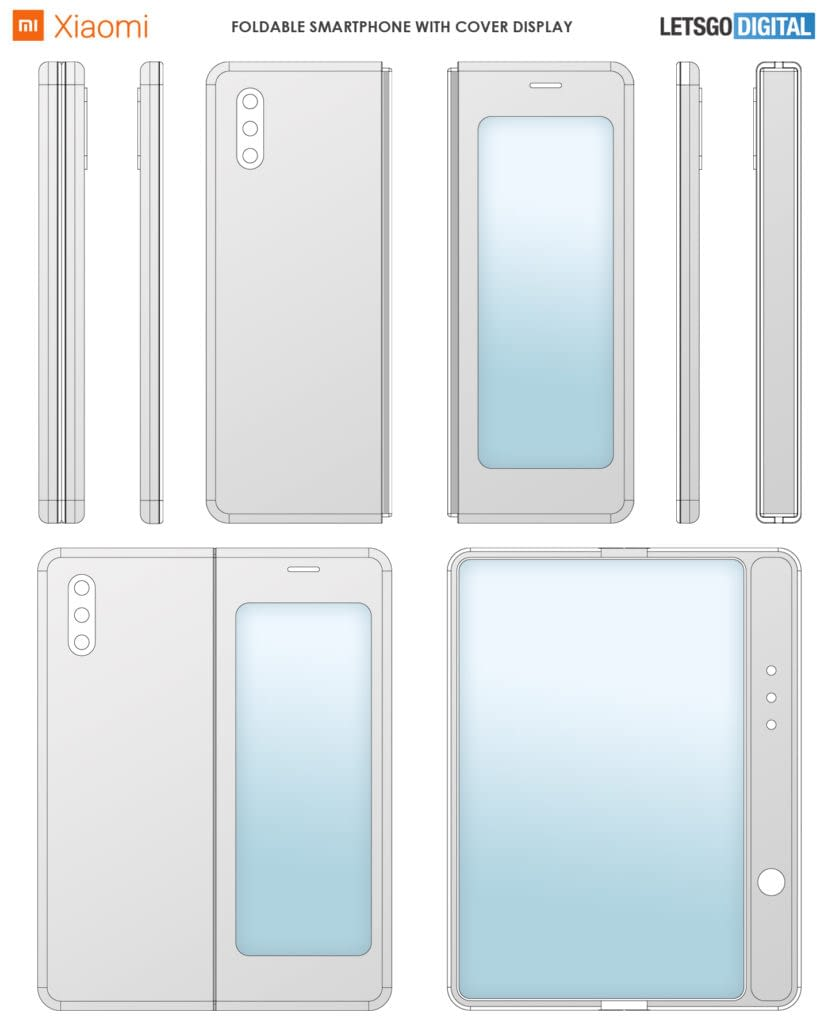 xiaomi foldable smartphone patent image(2)