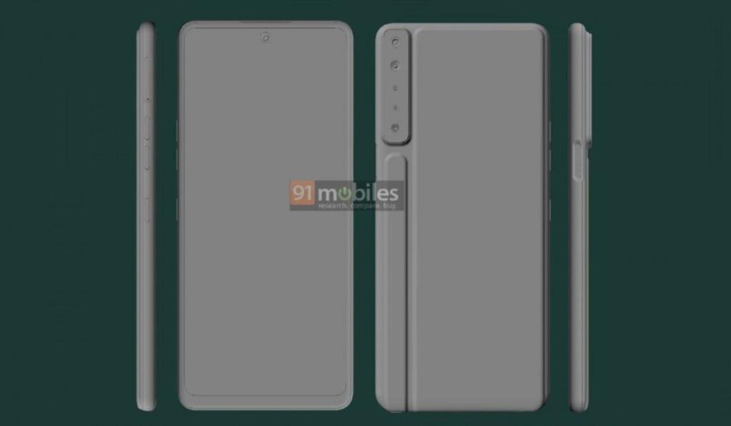 LG Stylo 7 CAD render