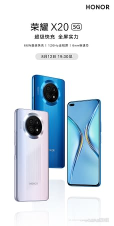Honor X20 5G launch poster