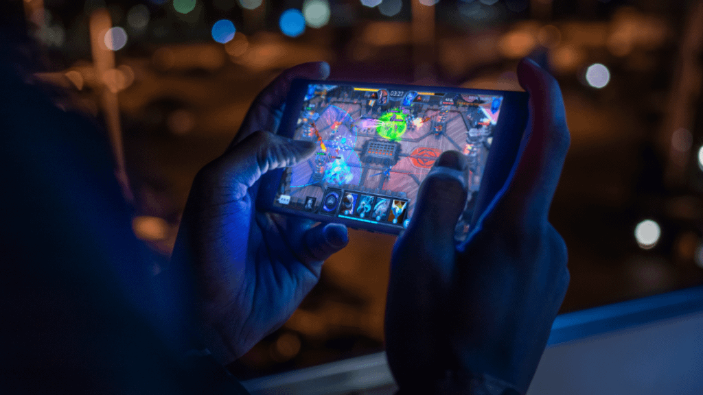 Playing game in a smartphone