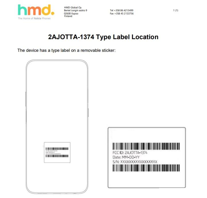 Nokia TA-1374 FCC