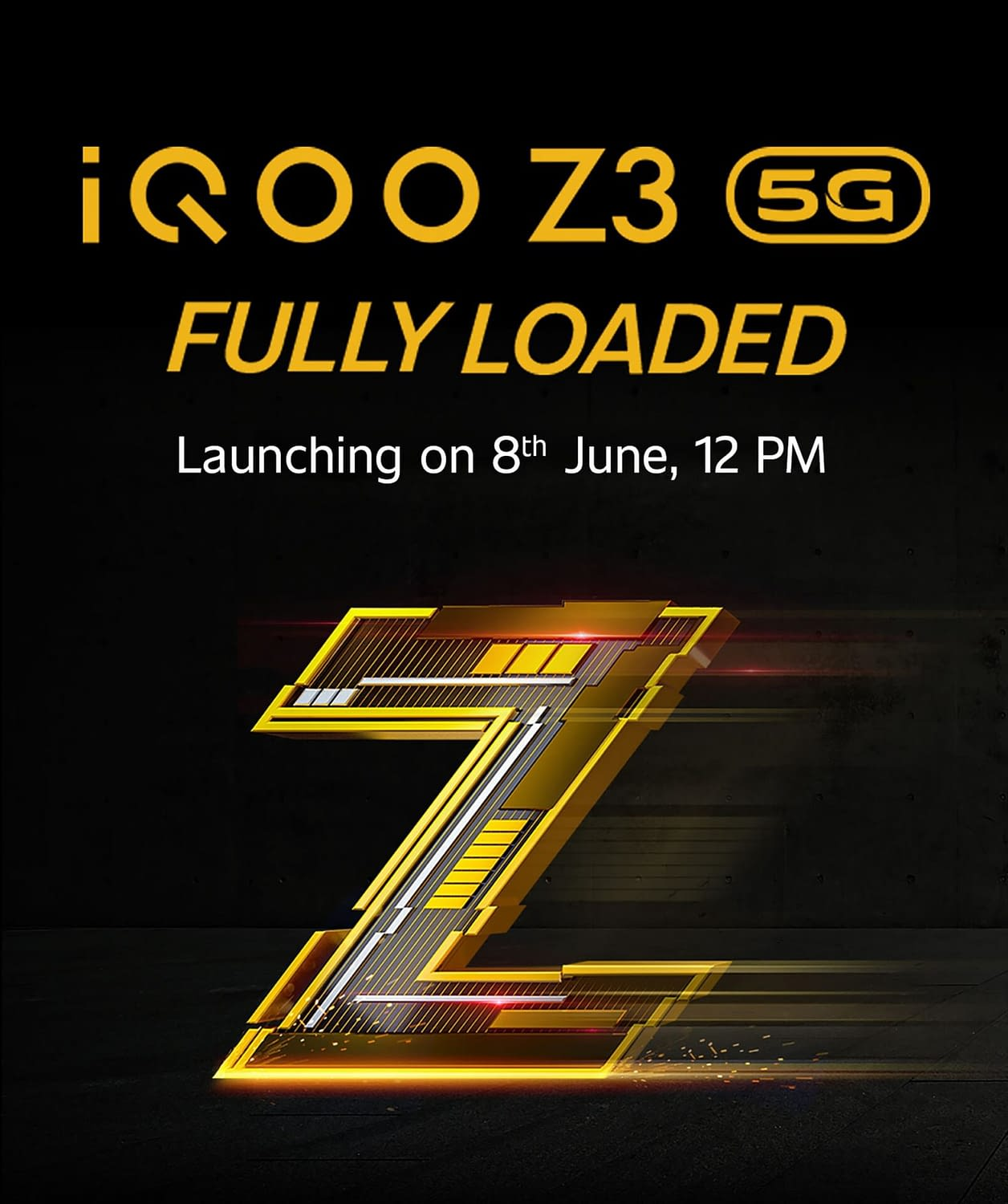 IQOO Z3 launch date poster
