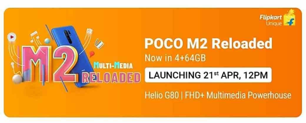 POCO M2 Reloaded poster