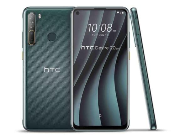 HTC Desire 20 Pro - Crystal Green color