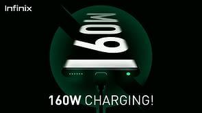 Infinix 160W fast charging phone teaser