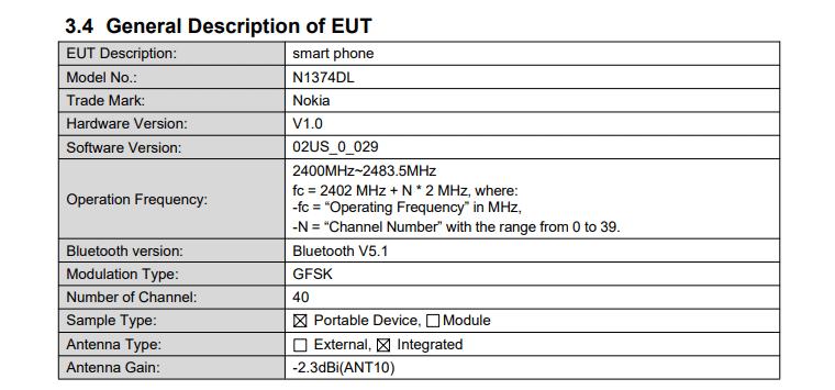 Nokia N1374DL FCC details (1)