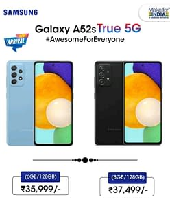 Samsung Galaxy A52s 5G India pricing