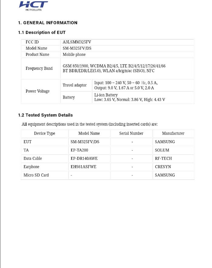 Galaxy M32 FCC details