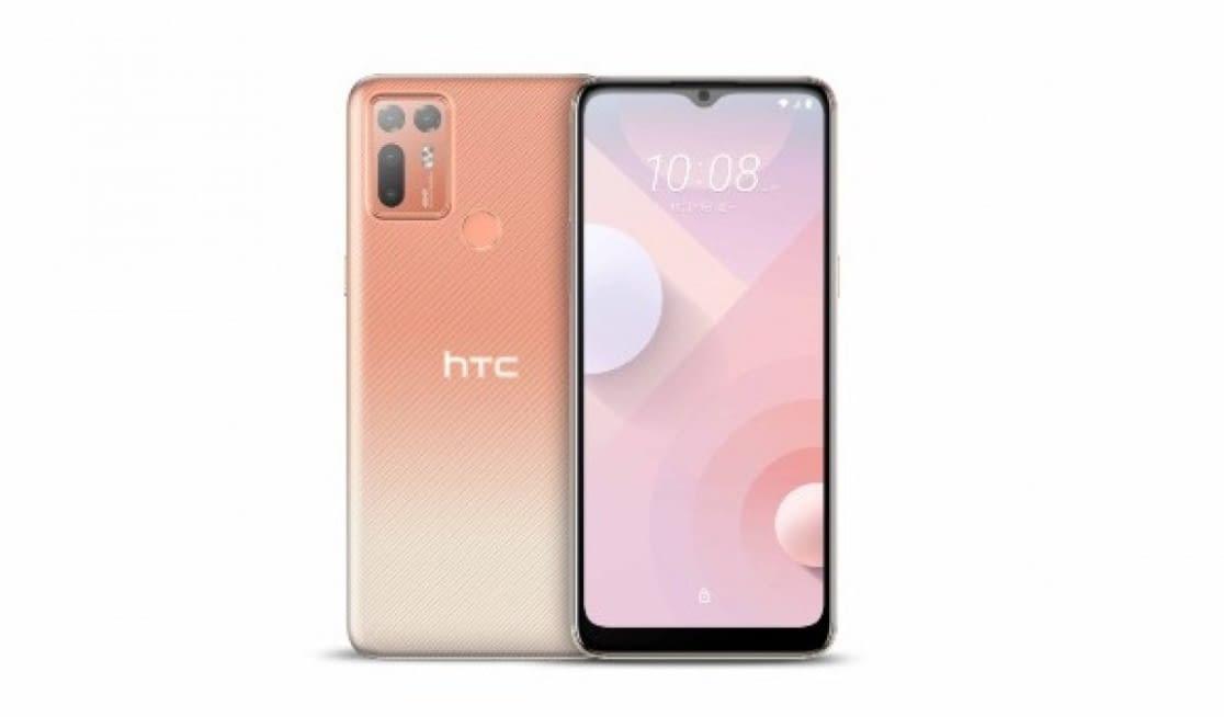 HTC Desire 20 Plus in orange color