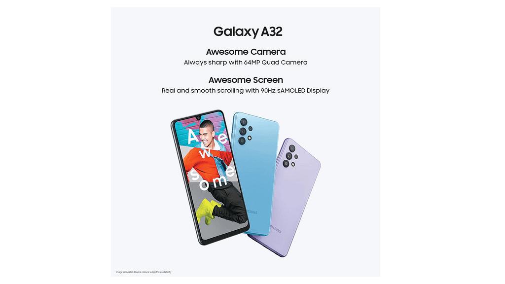 Samsung Galaxy A32 4G official poster