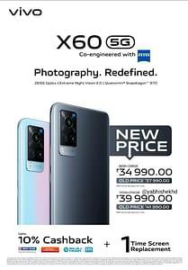 Vivo X60 new price