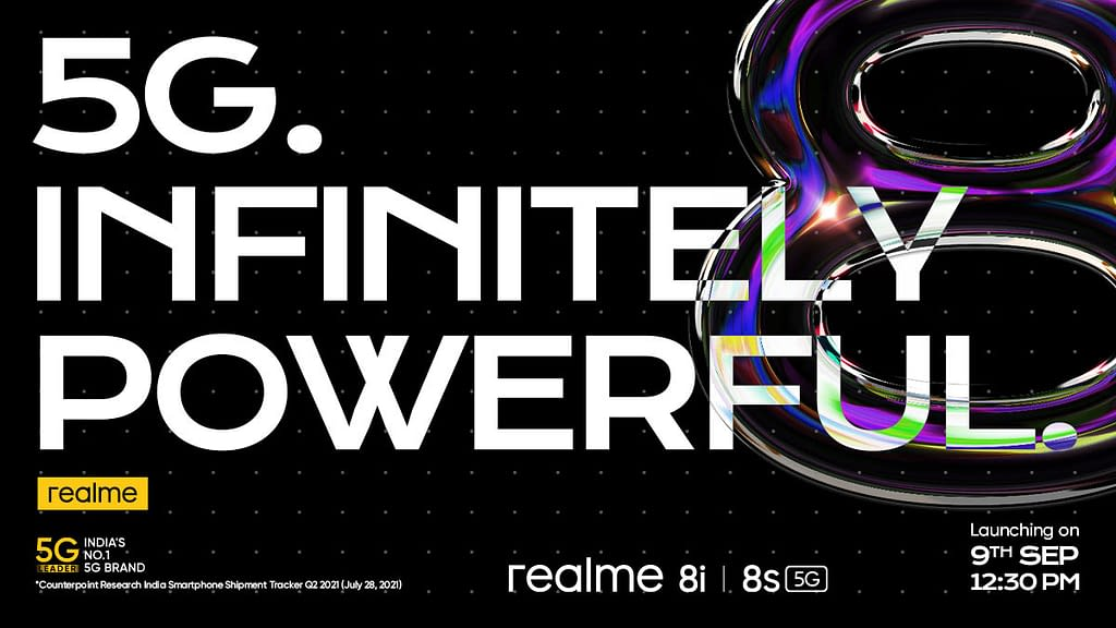 Realme 8i, 8s India Launch date