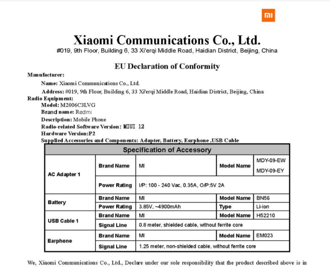 Xiaomi Global RF Exposure