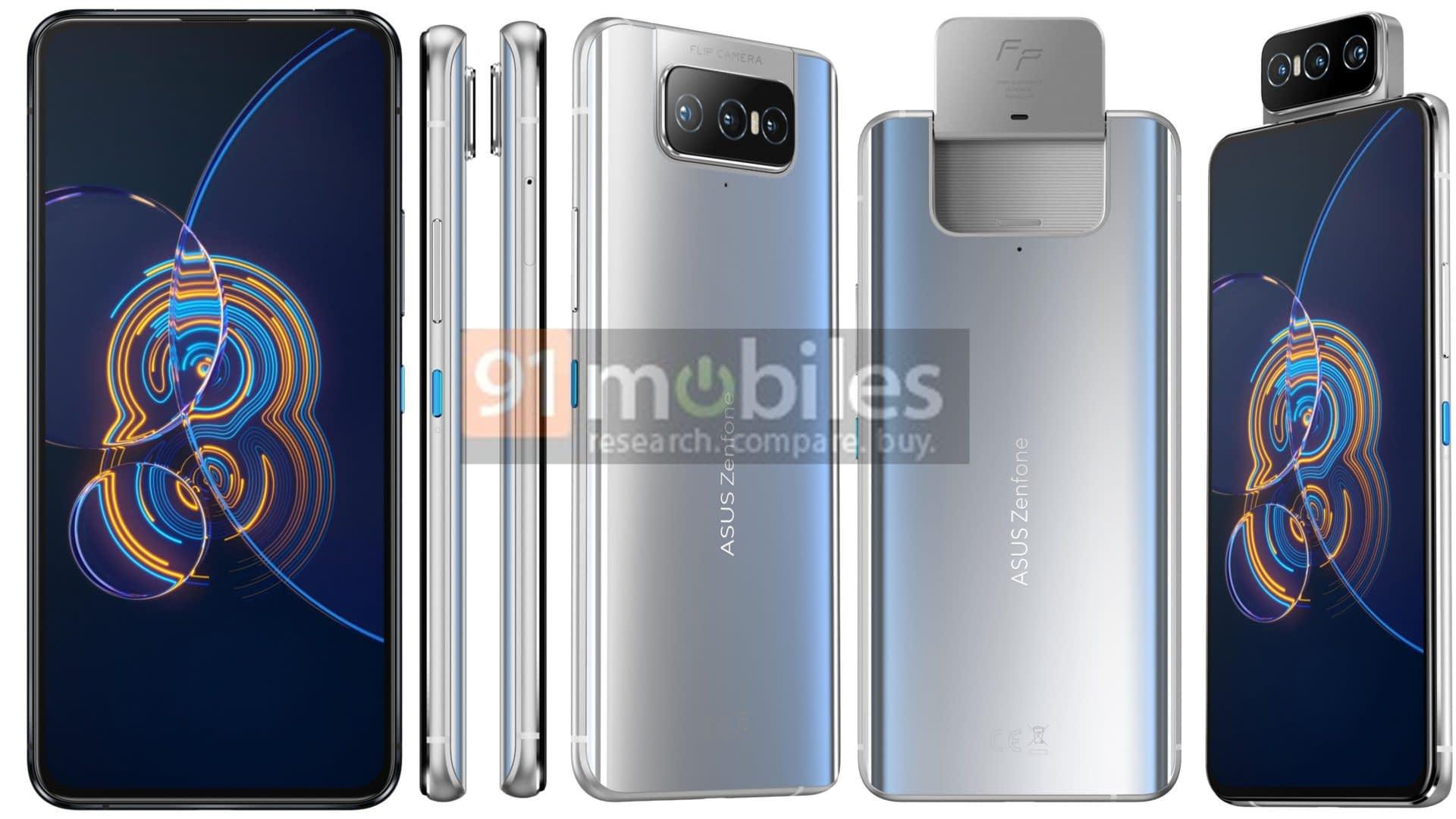 ASUS Zenfone 8 Flip leaked render in White