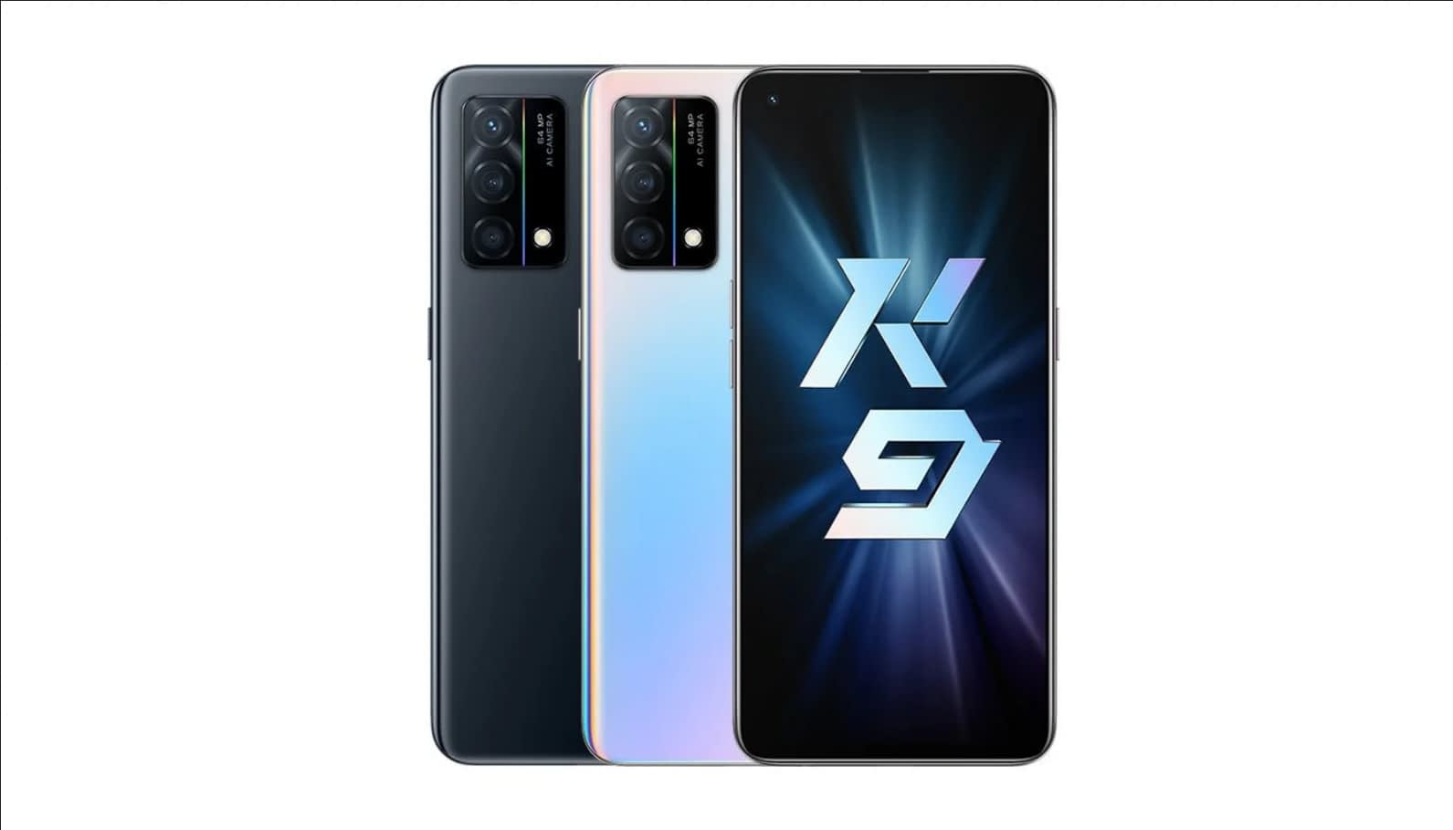 OPPO K9 5G in Black and Gradient Colours