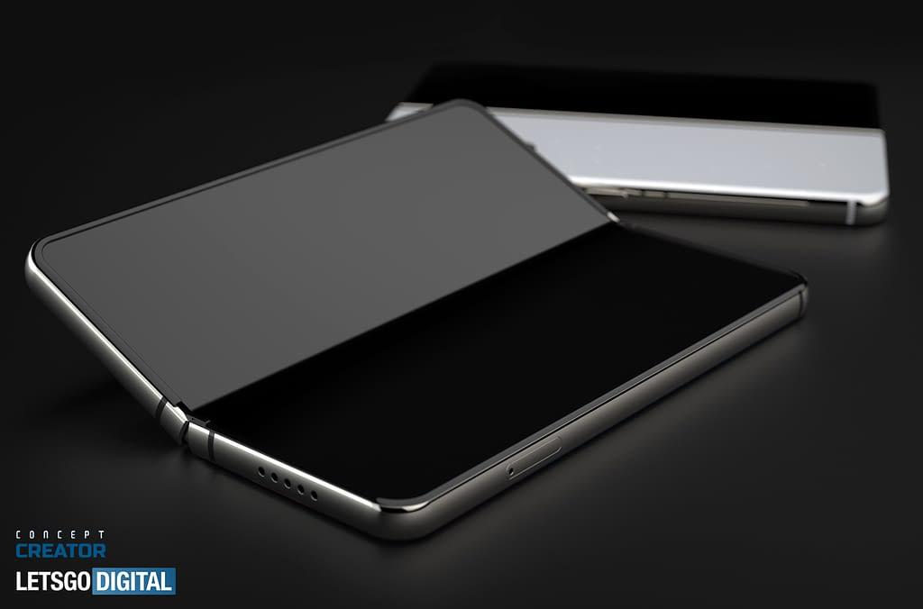 Samsung Galaxy Z Fold3 CAD render