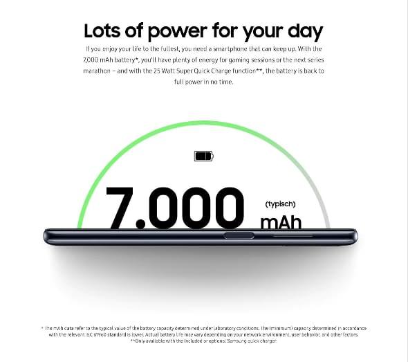 Galaxy M51 battery