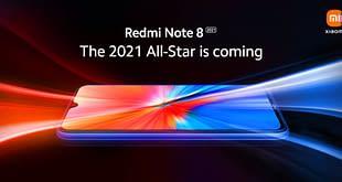 Redmi Note 8 2021 front design
